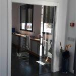 Puerta cristal oficina. Instalaciones metálicas Rincón. IMER SL